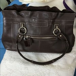 """Coach """"Penelope"""" Leather Tote"""